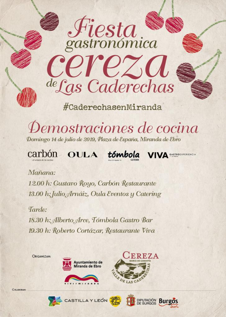 Actividades para la Fiesta Gastronómica de la Cereza de Caderechas en Miranda de Ebro