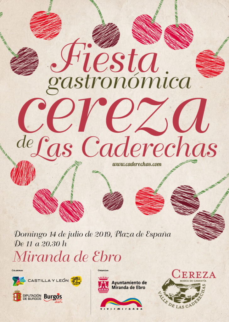 Fiesta Gastronómica de la Cereza de Las Caderechas en Miranda de Ebro